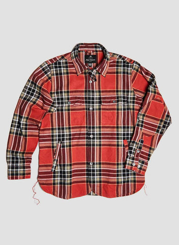 CPO SHIRT JACKET IN RED CHECK