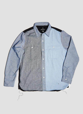JOES SHIRT IN MIXED BLUES