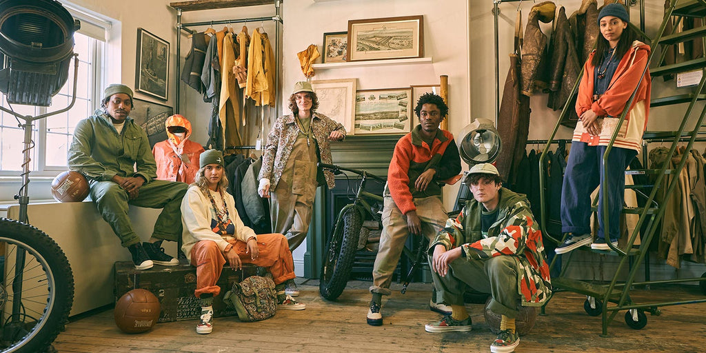 Vault by Vans x Nigel Cabourn - Model shoot featuring 5 models wearing collab garments and Cabourn pieces