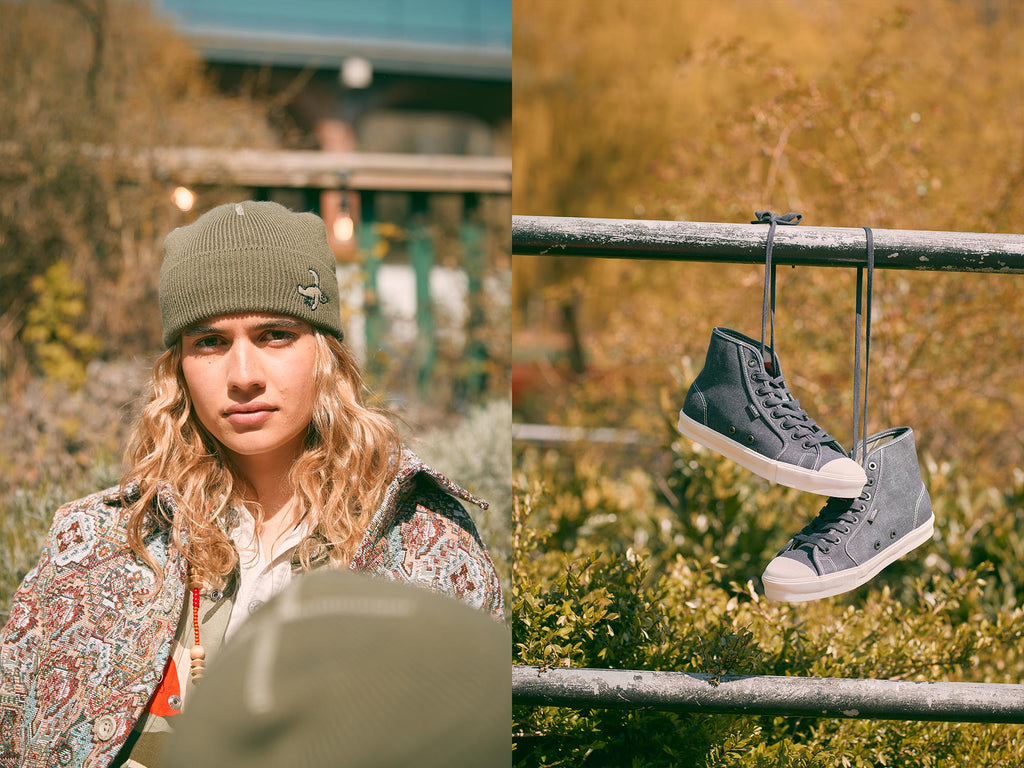 Vault by Vans x Nigel Cabourn - Featuring Vans Beanie and OG Style 24 LX in Black Navy