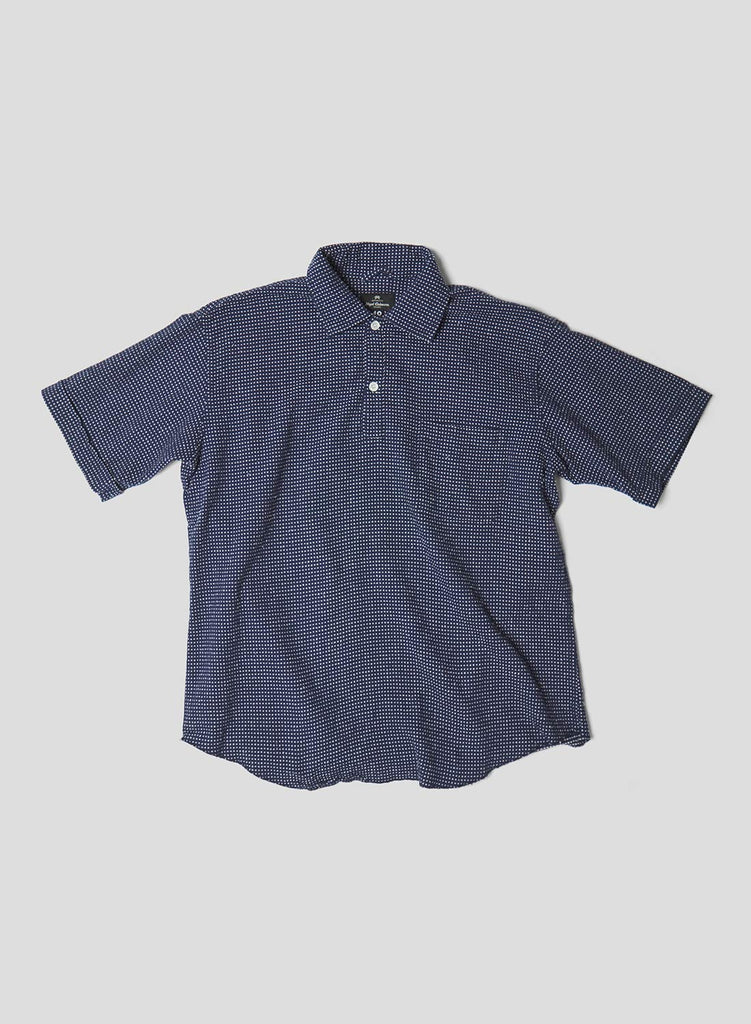 Unisex Short Sleeve POH Shirt in Navy and Multi Dot