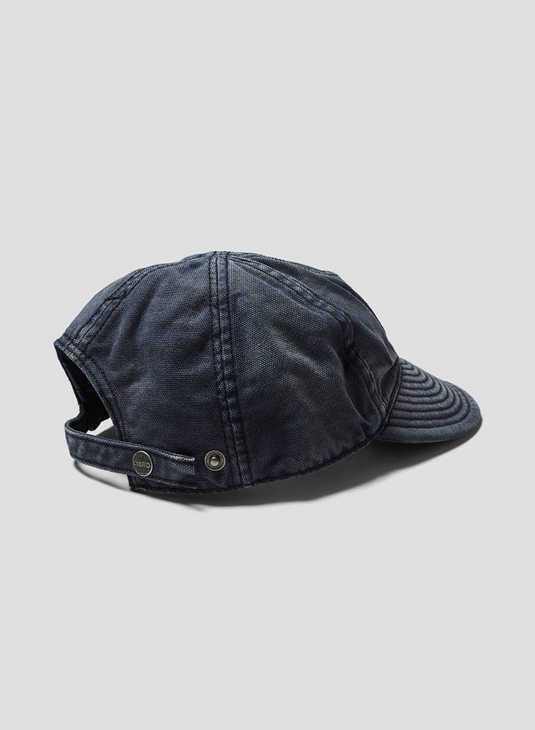 Globe Logo Mechanics Cap in Black Navy