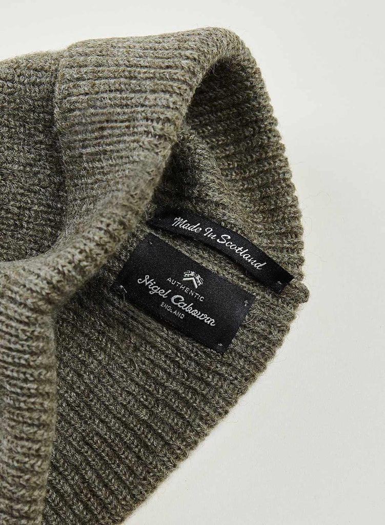 Solid Beanie in Light Army