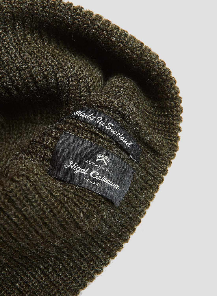 Solid Beanie in Dark Army