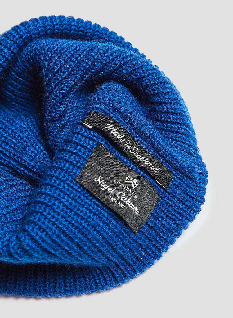Solid Beanie in Bright Blue