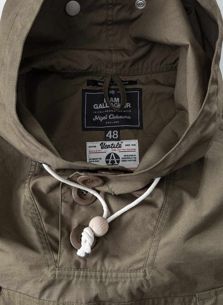Liam Gallagher x Nigel Cabourn Nato Green Long Smock 2