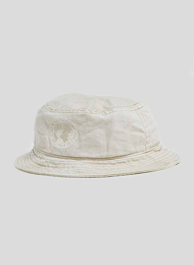 Globe Logo Bucket Hat in Stone