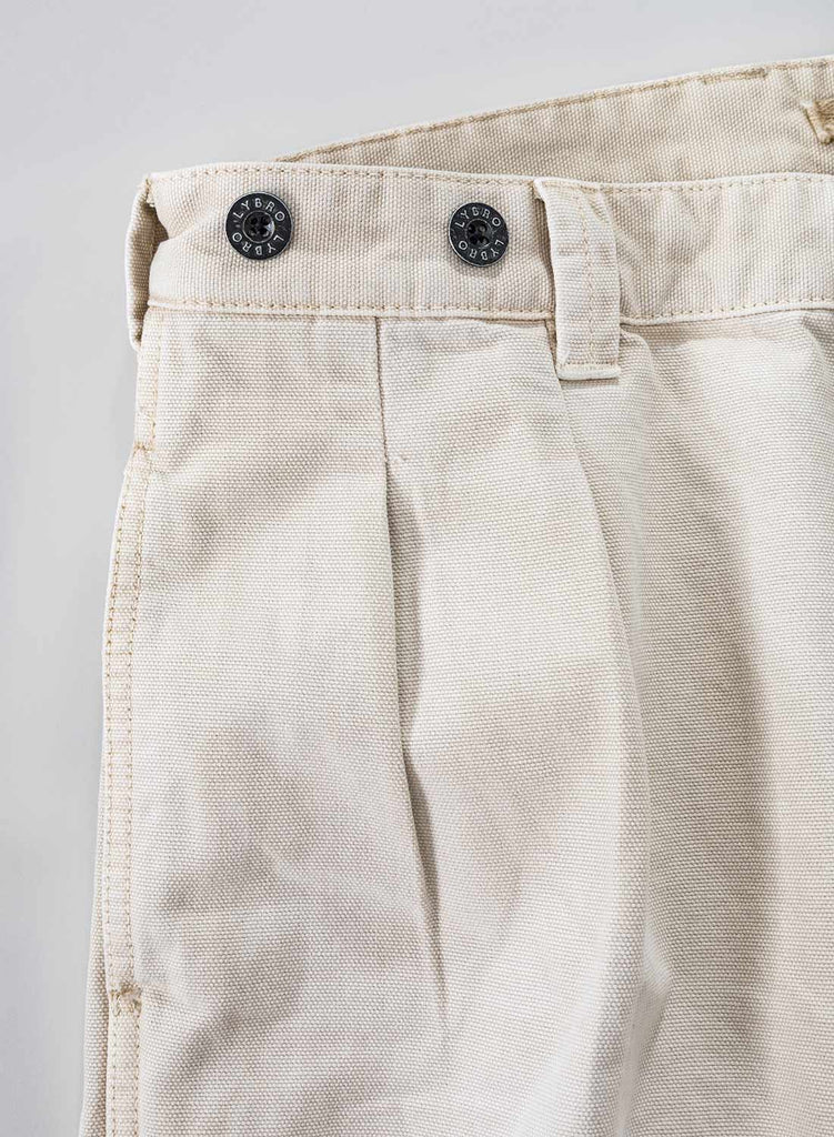 Pleated Chino in Stone