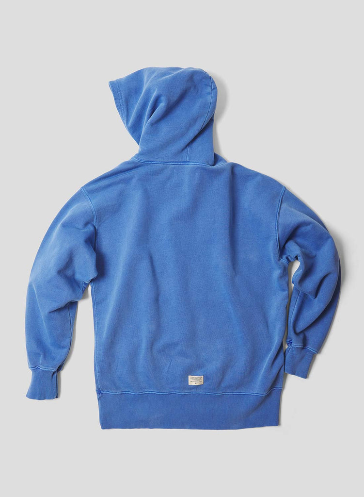 Embroidered Arrow Hoodie in Washed Blue