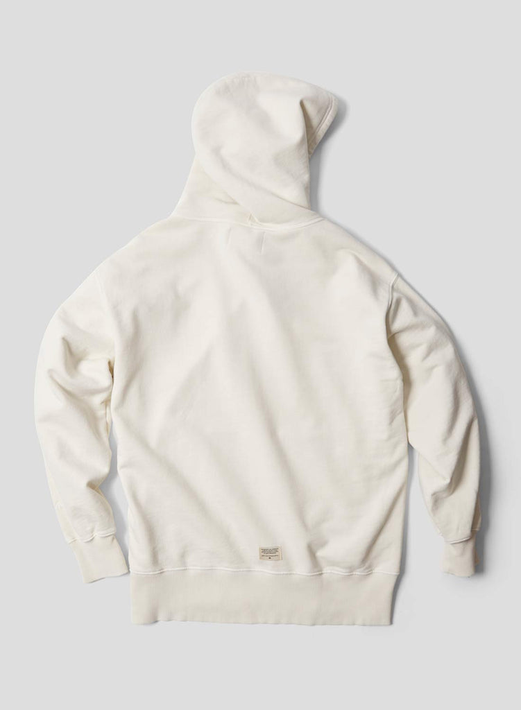 Embroidered Arrow Hoodie in Natural