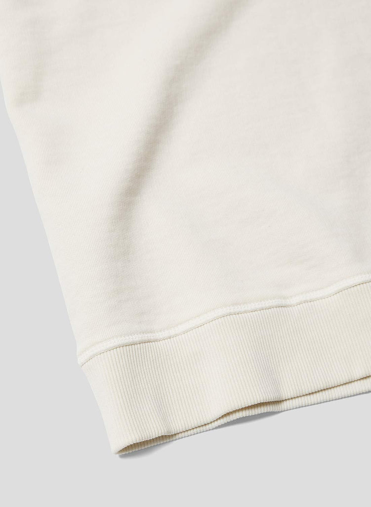 Short Sleeve Crew Neck Sweatshirt in Natural