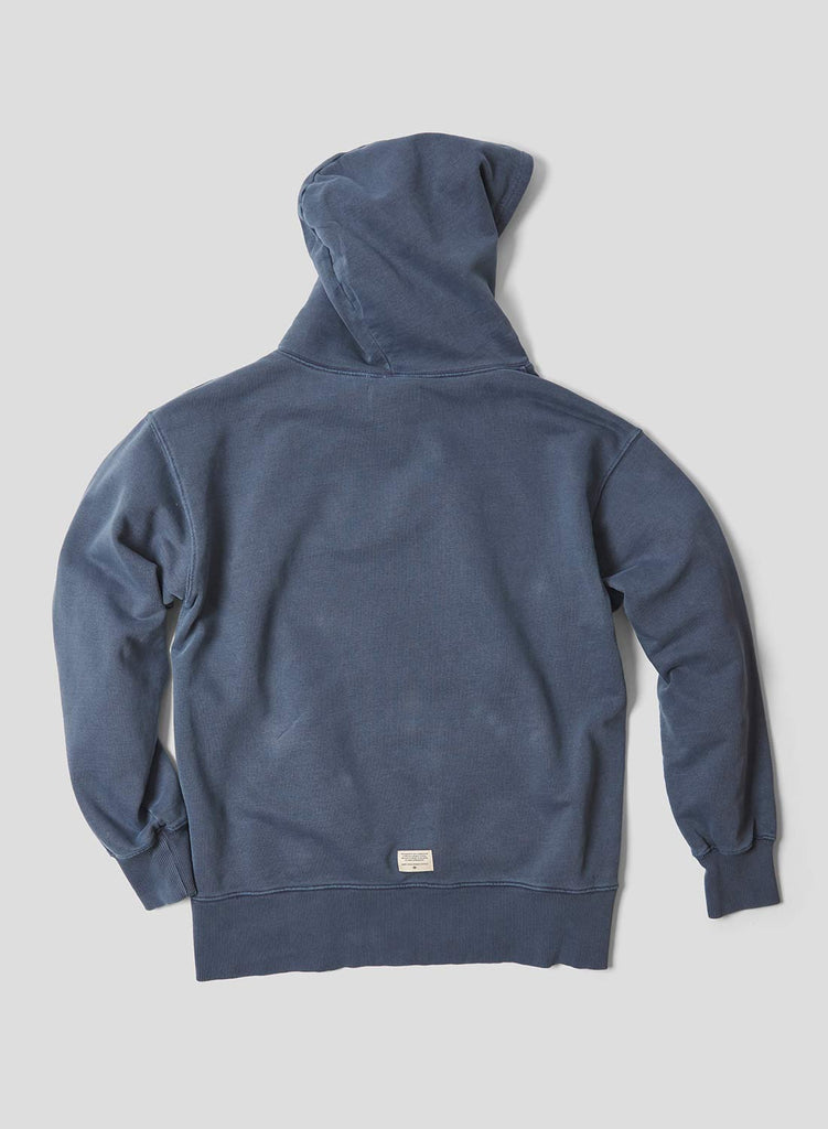 Embroidered Arrow Hoodie in Black Navy