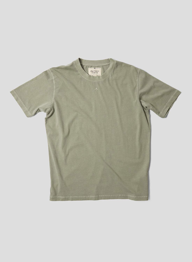 Embroidered Arrow Short Sleeve Tee in Washed Army