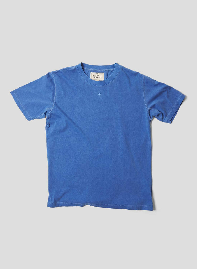 Embroidered Arrow Short Sleeve Tee in Washed Blue