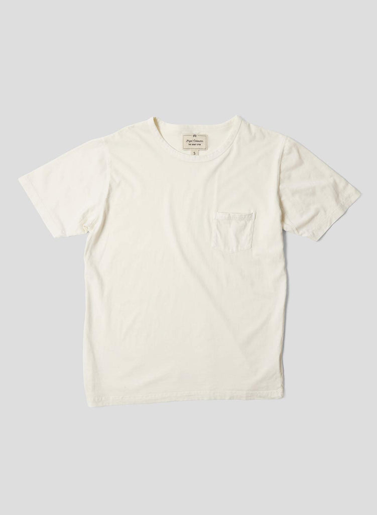 Military Pocket T Shirt in Natural