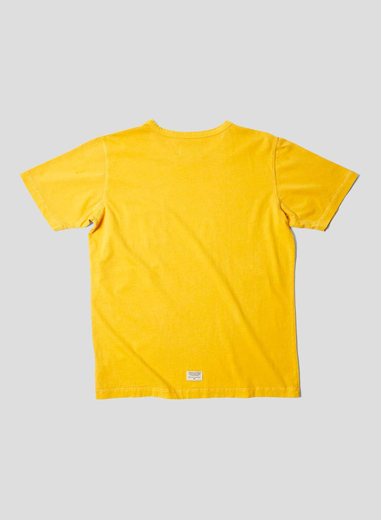 Military Pocket T Shirt in Racing Gold
