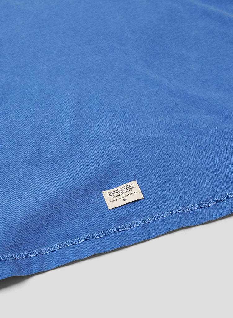 Military Pocket T Shirt in Washed Blue