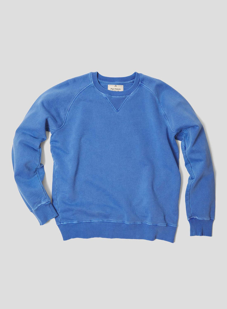 Embroidered Arrow Crew Sweatshirt in Washed Blue