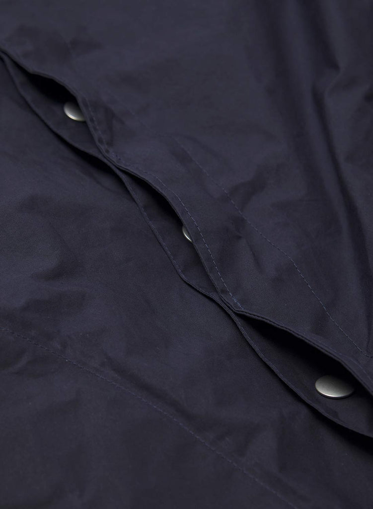 Nam Coat in Black Navy