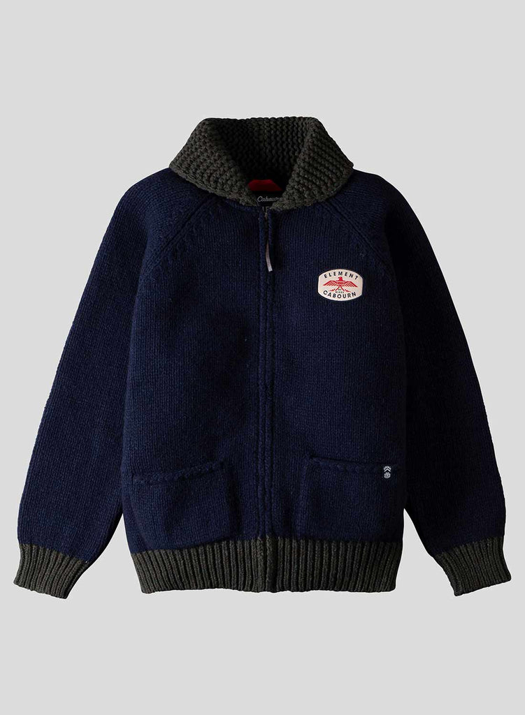 Tofino Zip Cardigan in Eclipse Navy