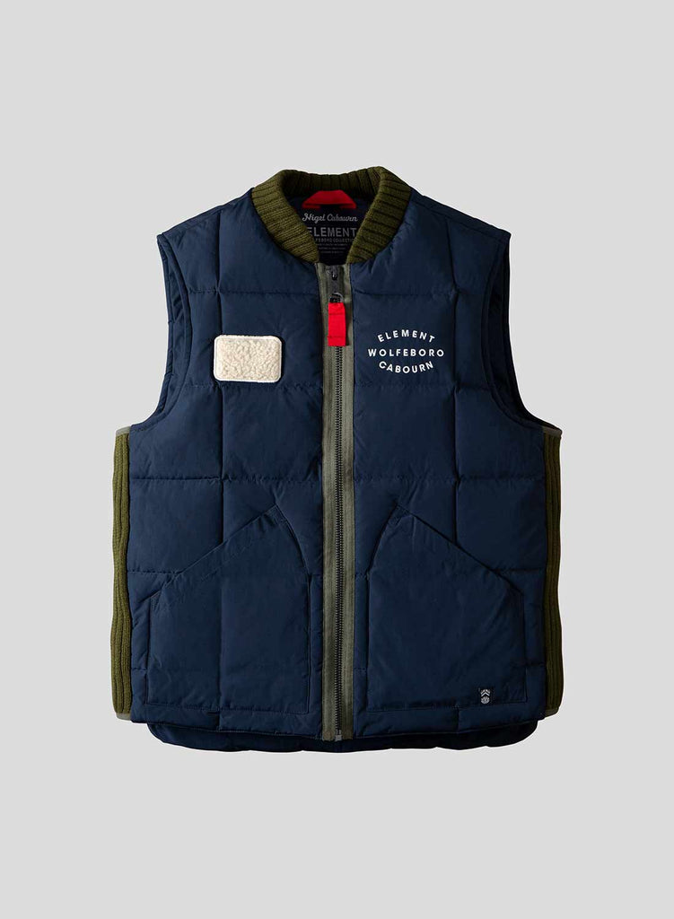 Fishing Down Vest in Eclipse Navy