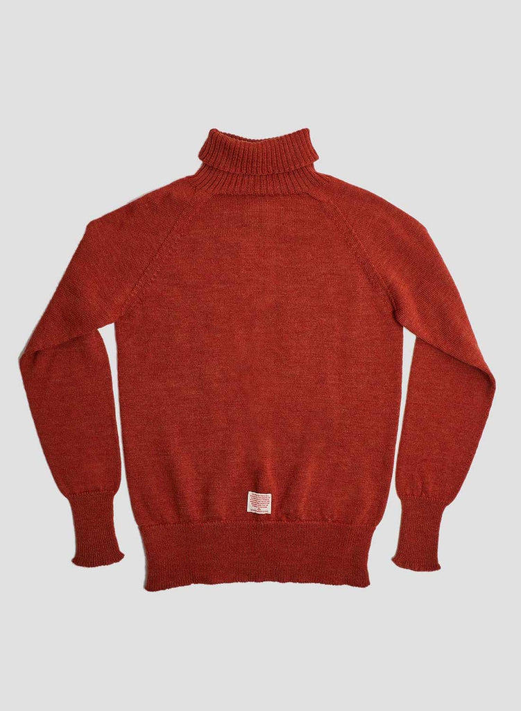 Seamless Roll Neck in Burnt Orange