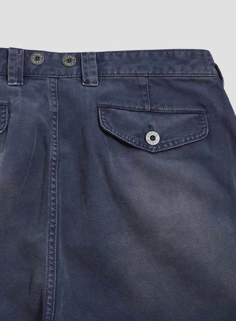 Pleated Chino in Black Navy