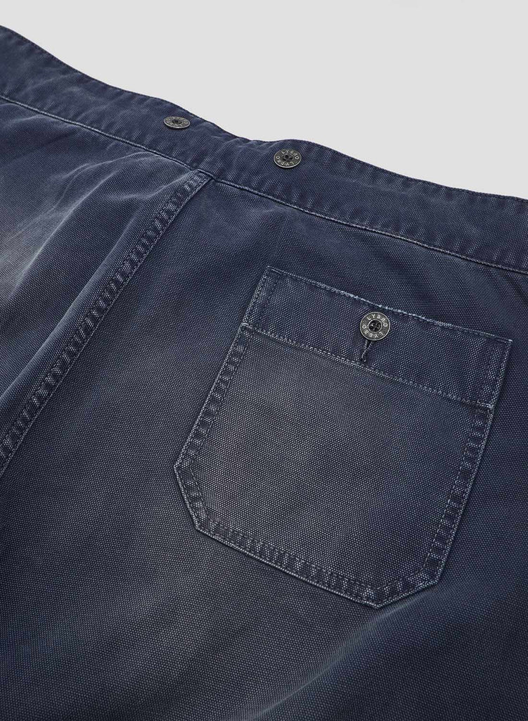 Drawstring Work Pant in Black Navy