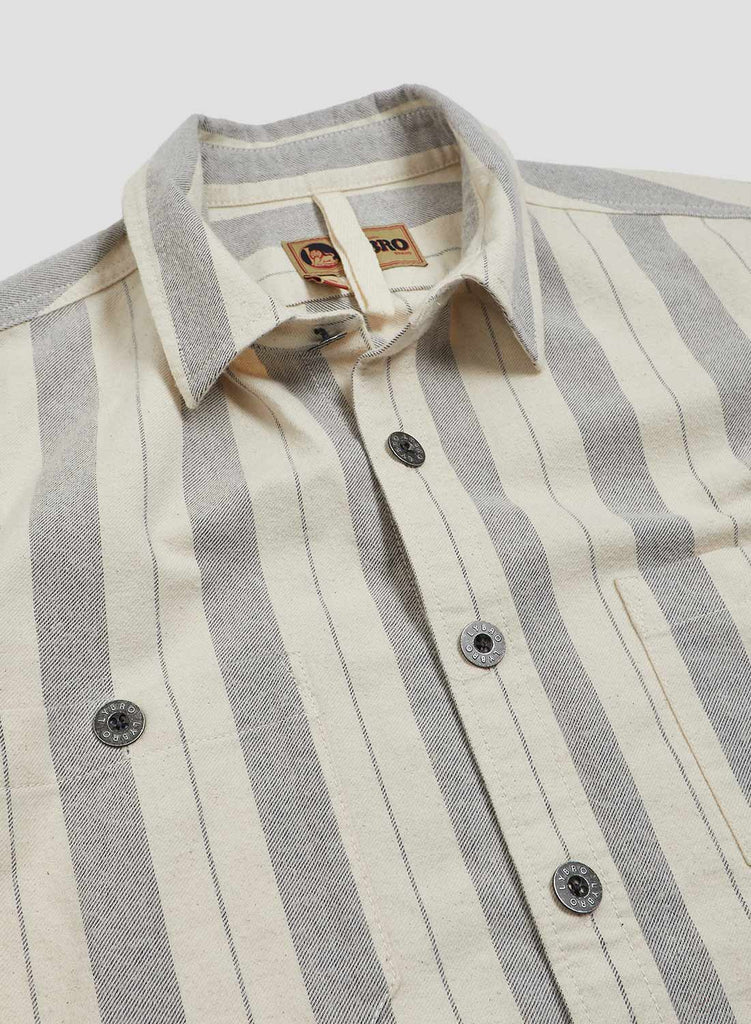 Arctic Stripe Shirt in Natural and Navy