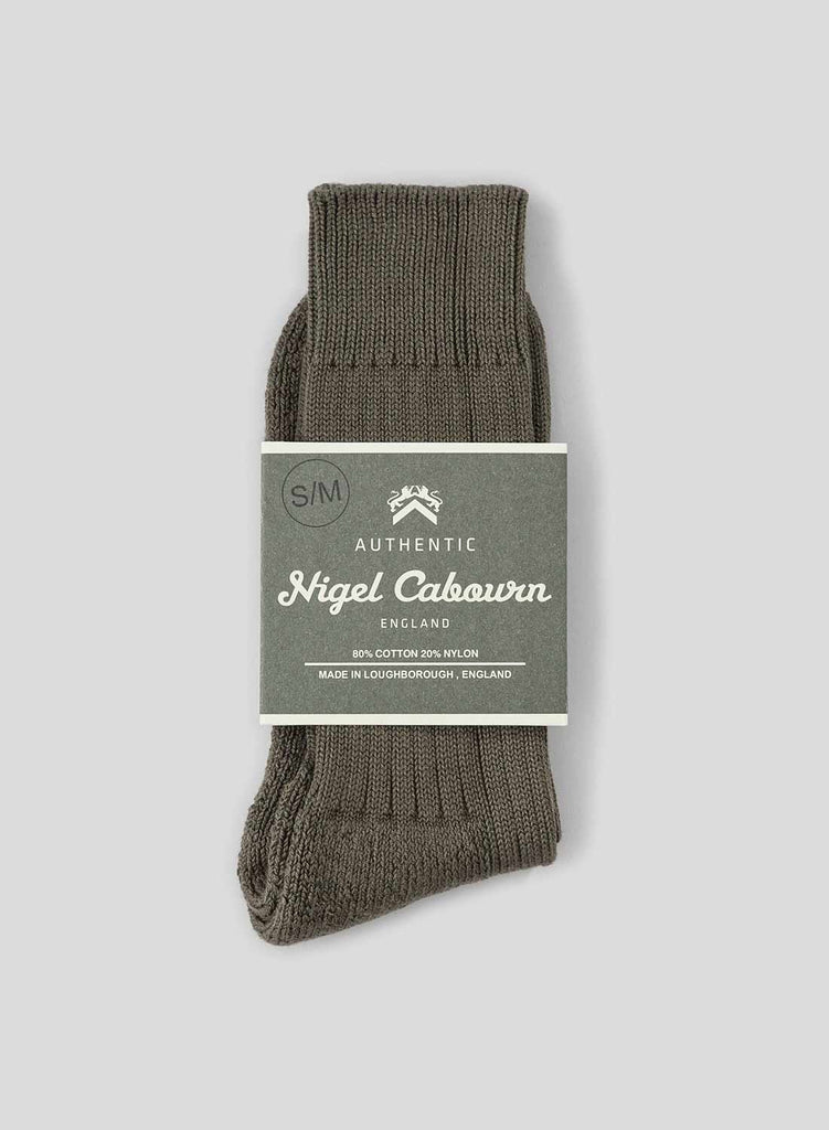 Cushion Sole Ribbed Crew Sock in Camouflage