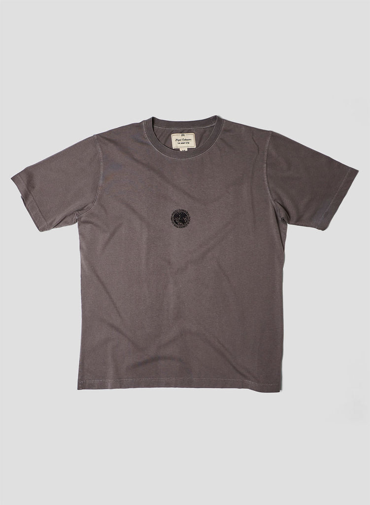 Embroidered Globe Logo T-Shirt in RAF Grey