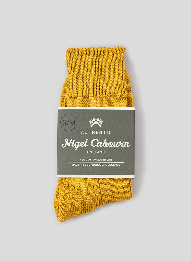 Cushion Sole Ribbed Crew Sock in Inca