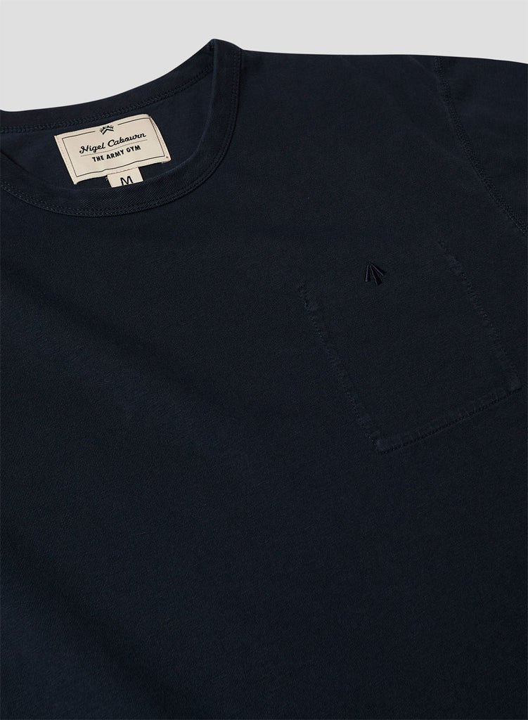Warm Up Military Tee in Black Navy