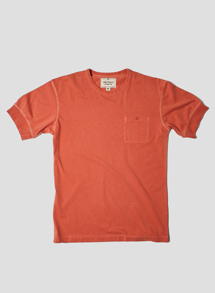 Warm up Military Tee in Vintage Orange