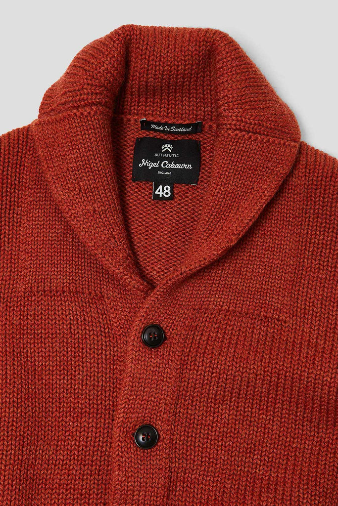 Big Shawl Cardigan in Orange
