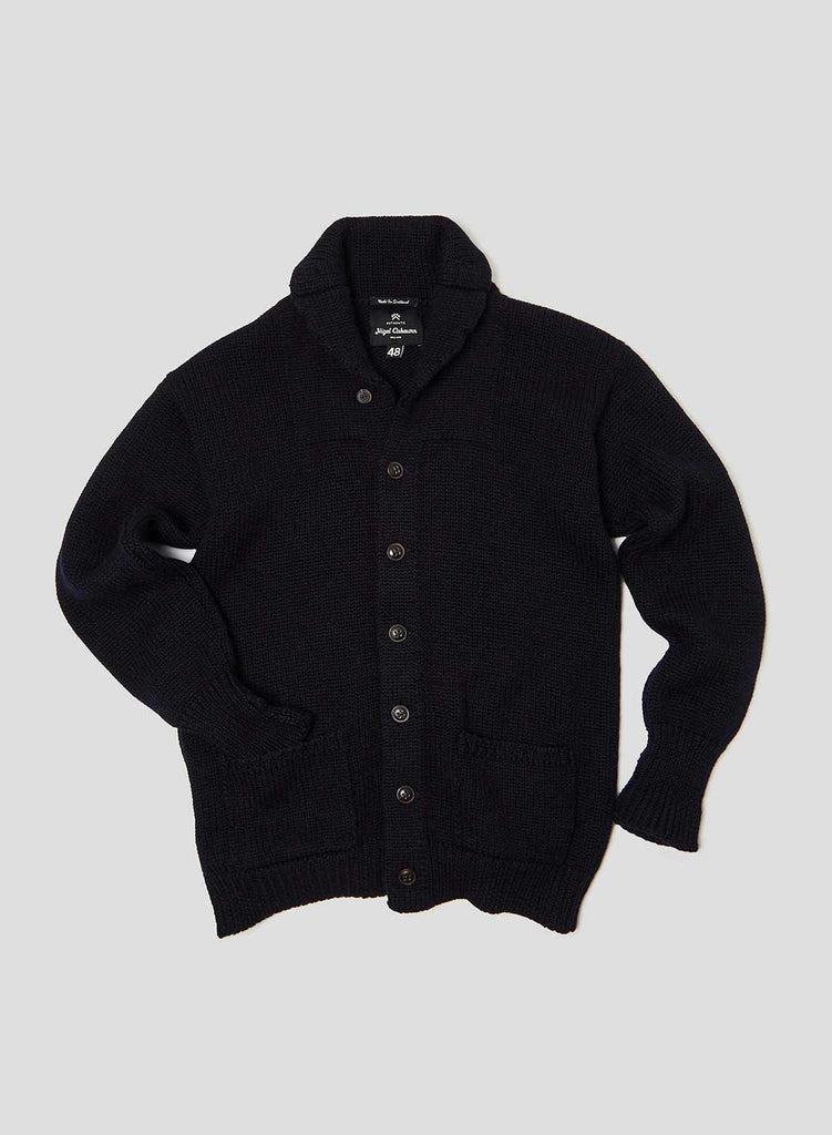 Big Shawl Cardigan in Black Navy