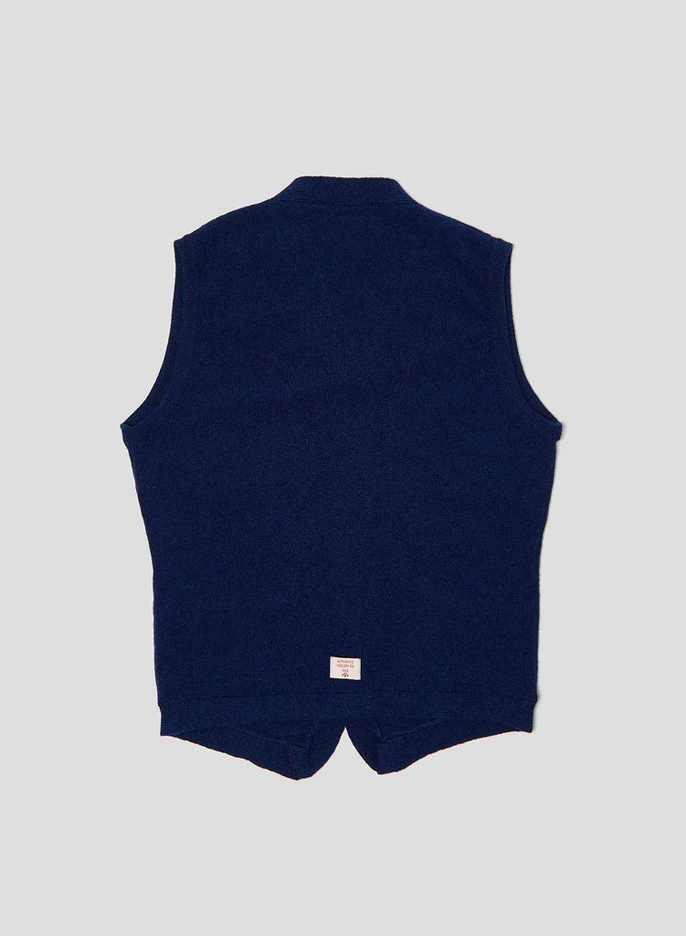 8 Pocket Knitted Vest in Bright Blue