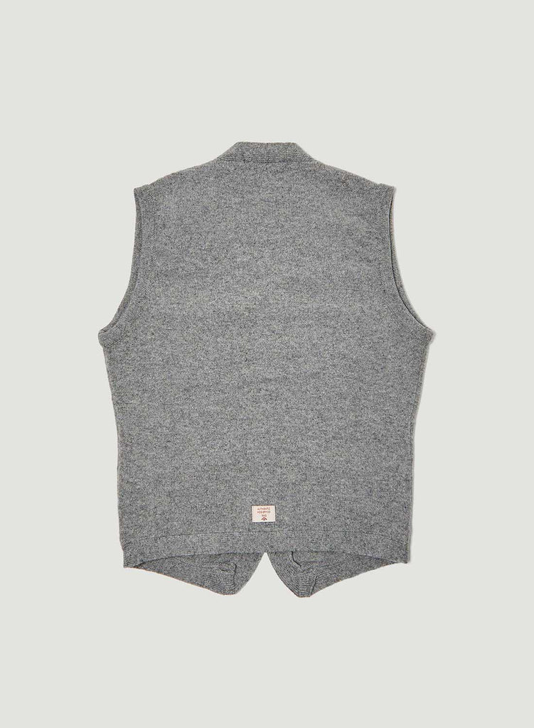 8 Pocket Knitted Vest in Light Grey