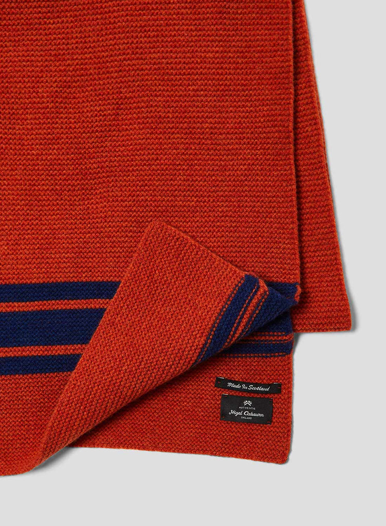 Lambswool Scarf in Orange