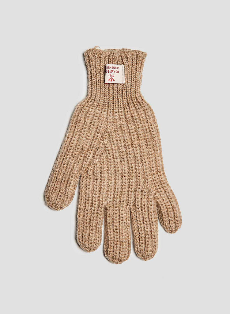 Ribbed Goalie Gloves in Stone