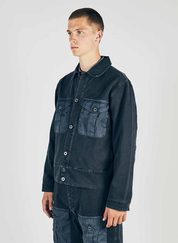 Naval Hip Jacket in Black Navy