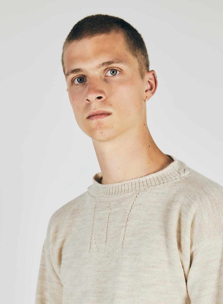 Submarine Knit Jumper in Dirty Natural
