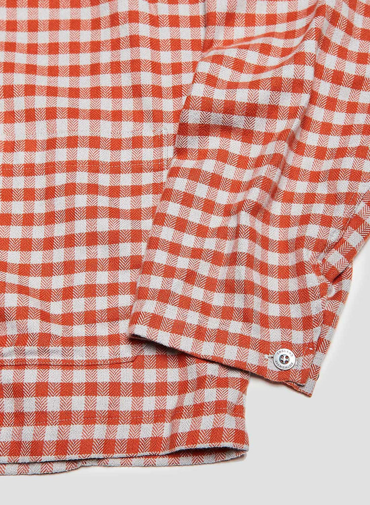 POH Deck Shirt in Orange Check