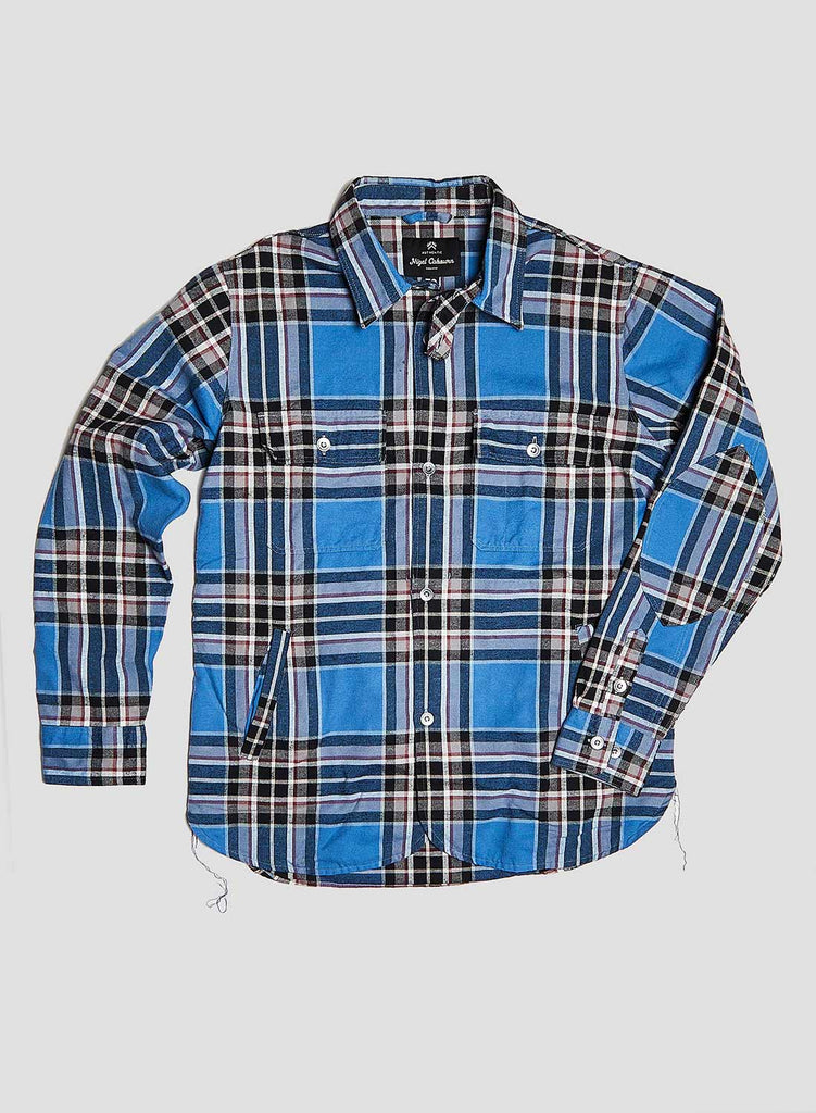 CPO Shirt Jacket in Blue Check