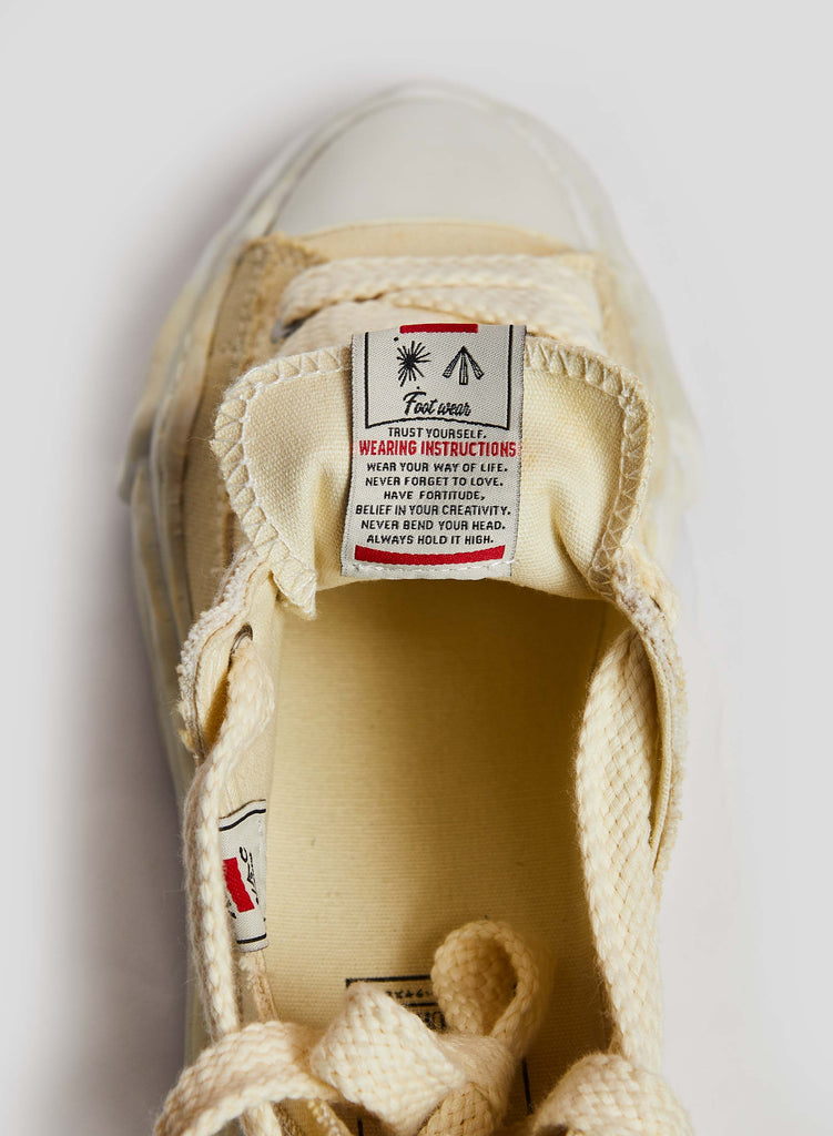NC x Mihara Low Cut Over-Dye Sneaker in Beige