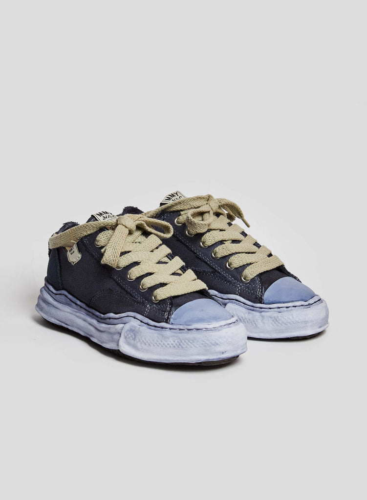 NC x Mihara Low Cut Over-Dye Sneaker in Blue Black