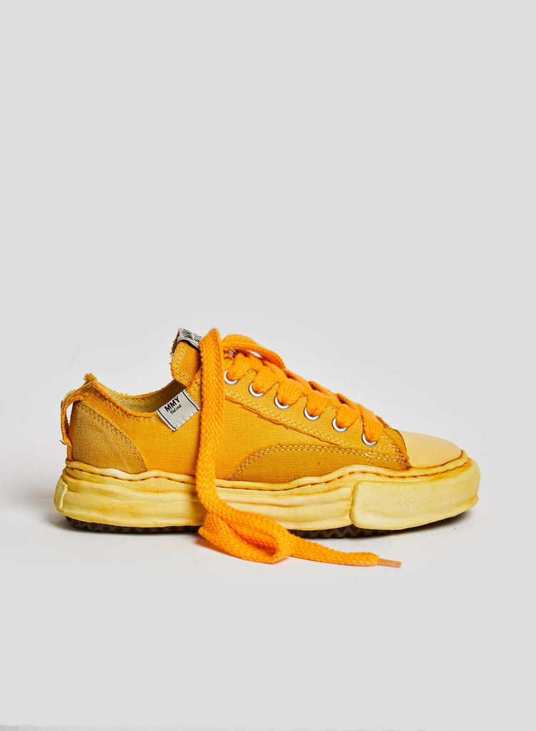 NC x Mihara Low Cut Over-Dye Sneaker in Yellow