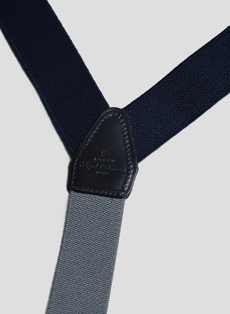 Workwear Braces in Black Navy