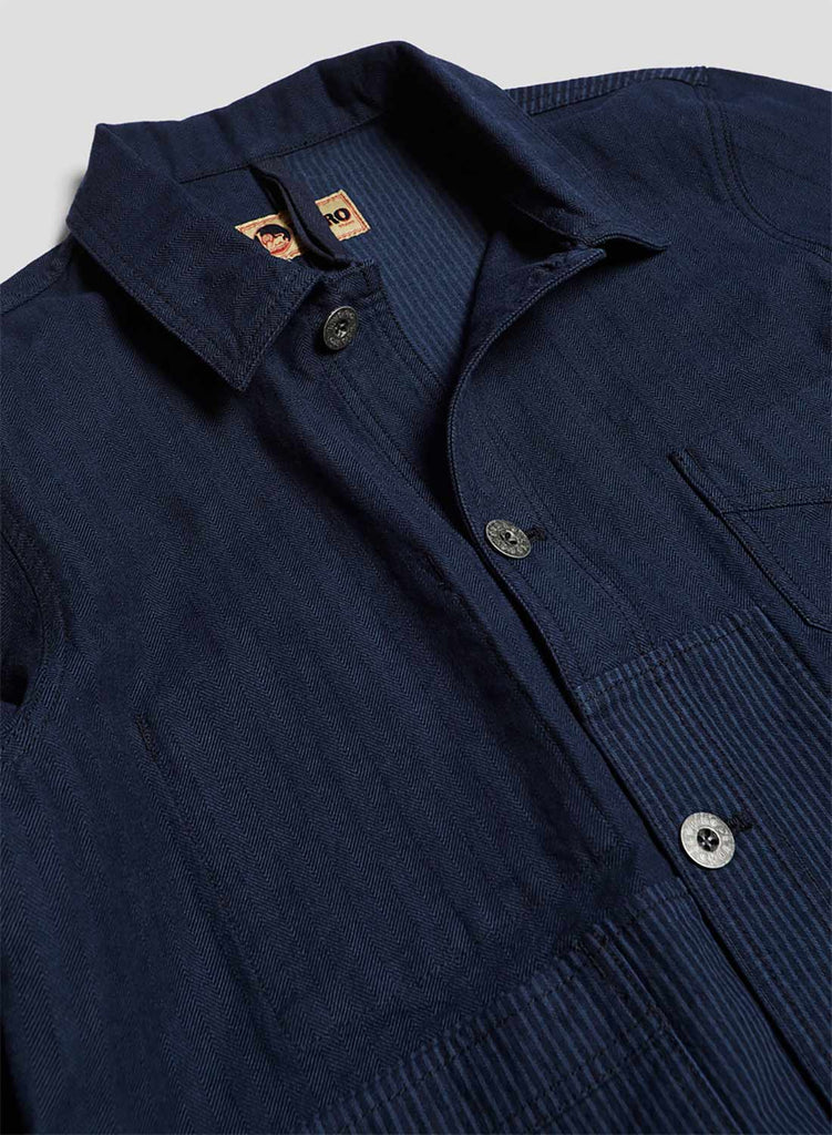 Work Jacket in Navy Overdye