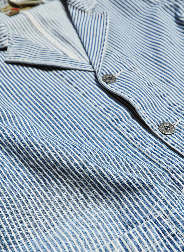 Work Blazer in Indigo Stripe
